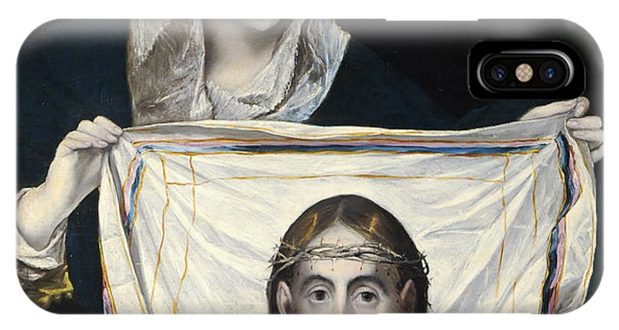 Catholic IPhone X Case featuring the painting La Veronica by El Greco