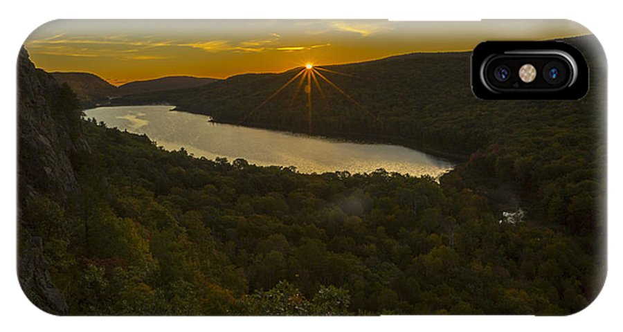 Fall IPhone X Case featuring the photograph Lake Of The Clouds Sunrise by Jack R Perry