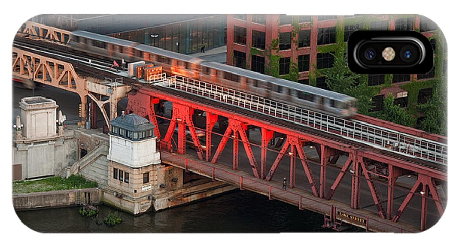 Chicago IPhone X Case featuring the photograph Lake Street Crossing Chicago River by Steve Gadomski