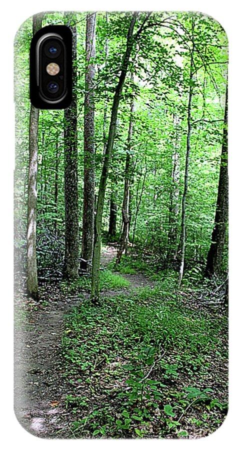 Tecumseh IPhone X Case featuring the photograph Lakeside Trail Winding Path - Yellowwood Lake by Scott D Van Osdol