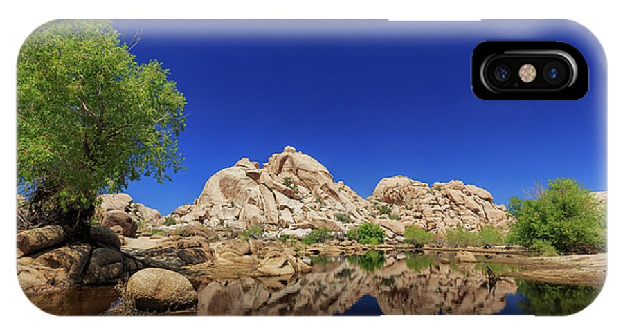 Joshua Tree National Park IPhone X Case featuring the photograph Landscape In Joshua Tree National Park by Chon Kit Leong