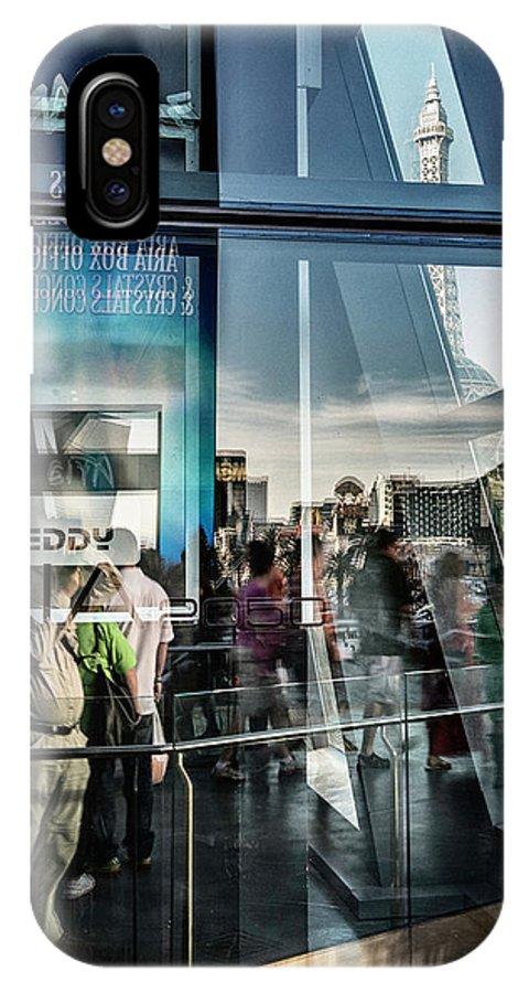 Las Vegas IPhone X Case featuring the photograph Las Vegas Strip 0245 by Bob Neiman