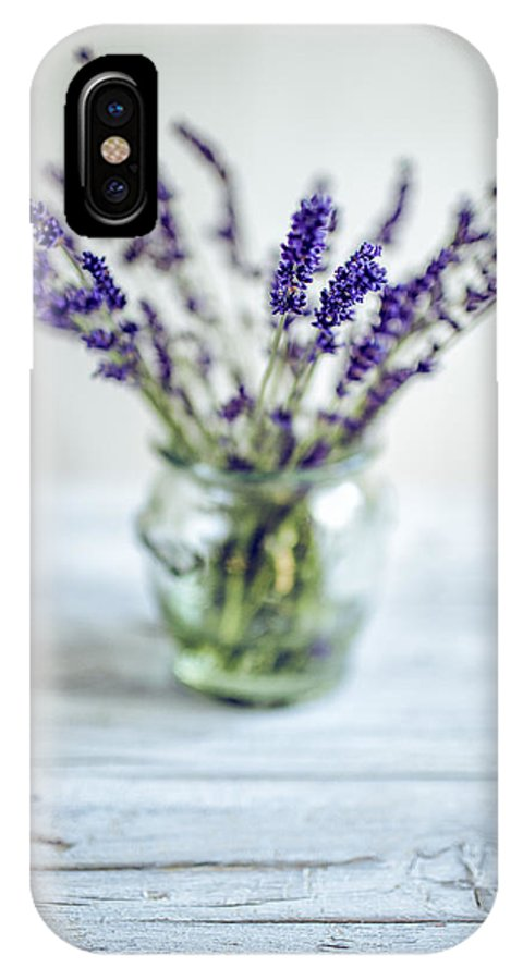 Lavender IPhone X Case featuring the photograph Lavender Still Life by Nailia Schwarz