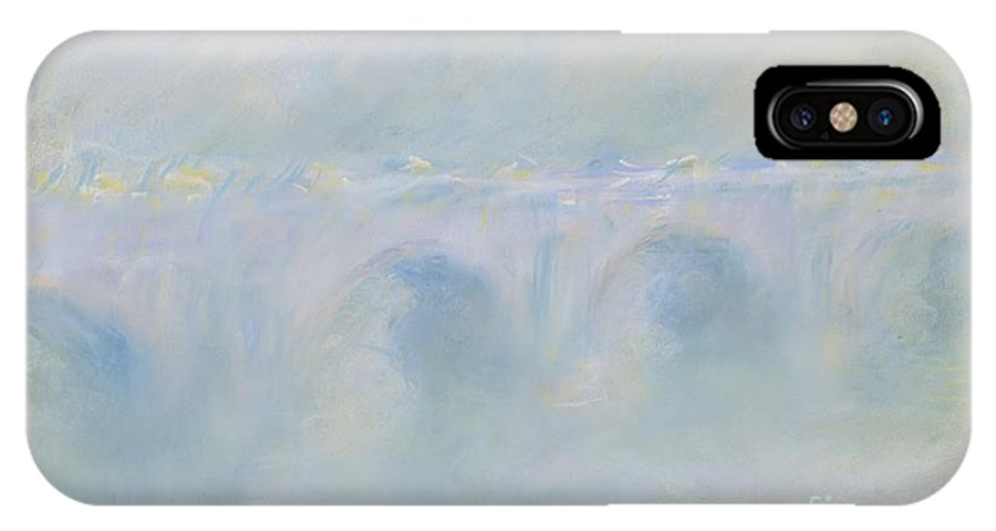 IPhone X Case featuring the drawing Le Pont De Waterloo by Claude Monet