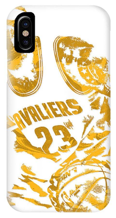 Lebron James Cleveland Cavaliers Pixel Art 7 Iphone X Case For Sale