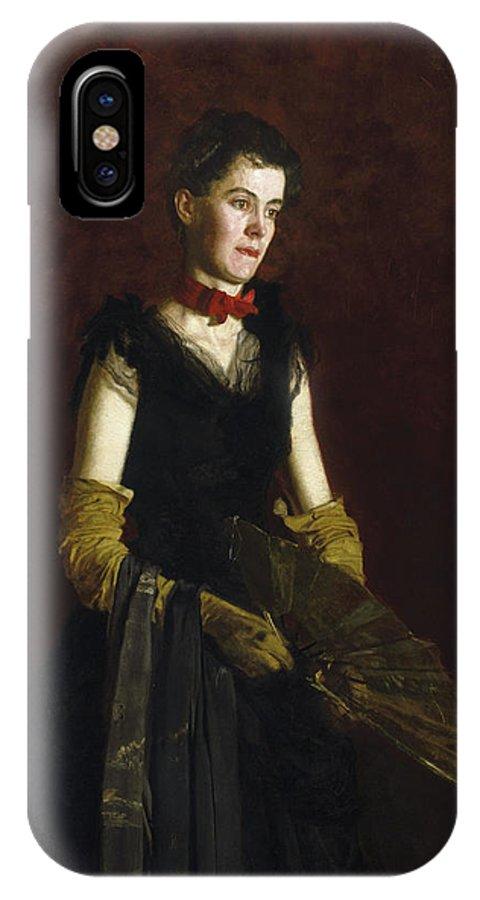 America IPhone X Case featuring the painting Letitia Wilson Jordan by Thomas Eakins