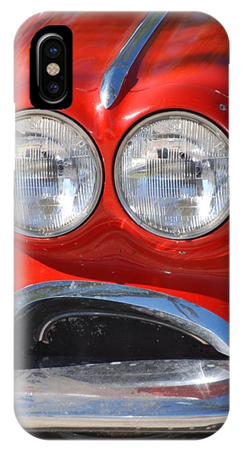 Corvette IPhone Case featuring the photograph Little Red Corvette by Rob Hans