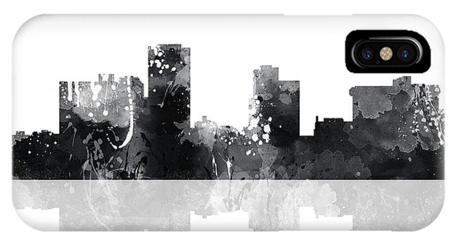 Little Rock Arkansas Skyline IPhone X Case featuring the digital art Little Rock Arkansas Skyline by Marlene Watson