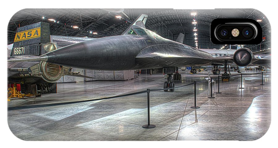 Dayton IPhone X Case featuring the photograph Lockheed, Yf-12a by Greg Hager