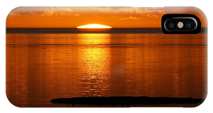 Sunset IPhone X Case featuring the photograph Looking For The Green Flash by Debbie May