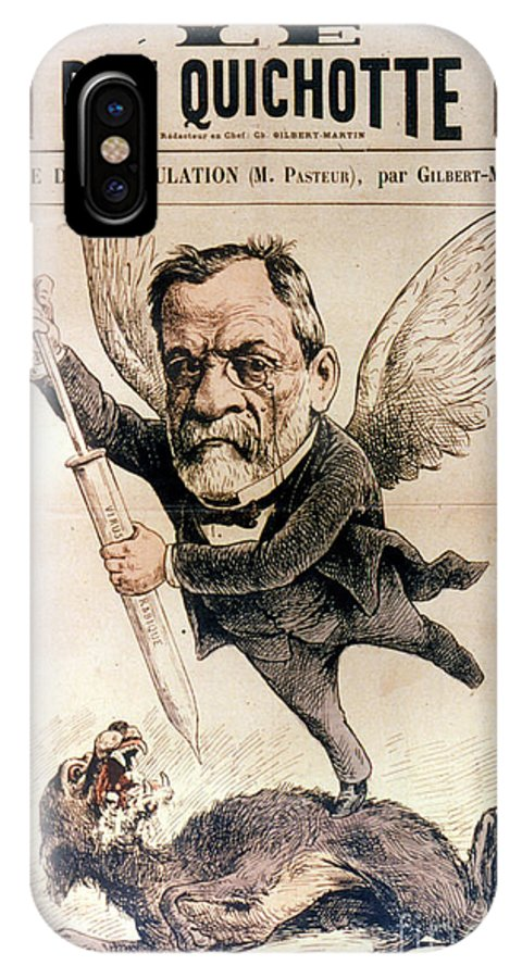 1886 IPhone X Case featuring the photograph Louis Pasteur (1822-1895) by Granger