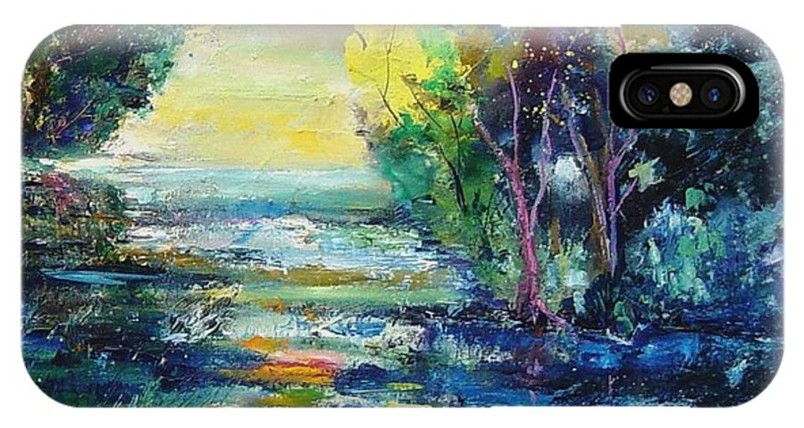 Pond IPhone Case featuring the painting Magic Pond by Pol Ledent