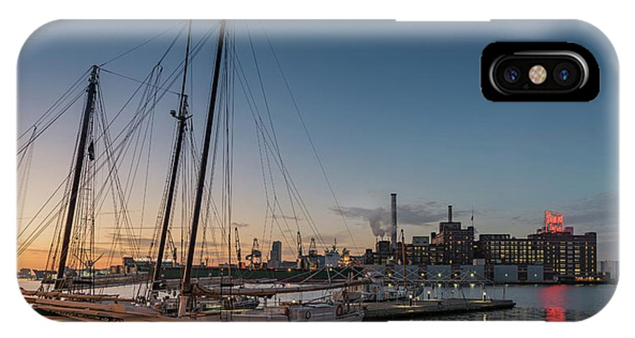 2017 IPhone X Case featuring the photograph Magic Sky In Baltimore by Jim Archer