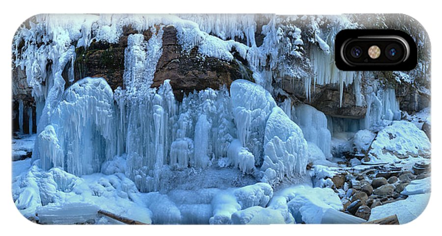 Maligne Canyon IPhone X / XS Case featuring the photograph Maligne Canyon Frozen by Adam Jewell