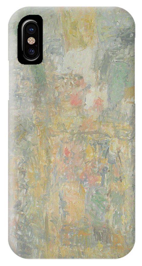 Bouquet IPhone X Case featuring the painting Man by Robert Nizamov