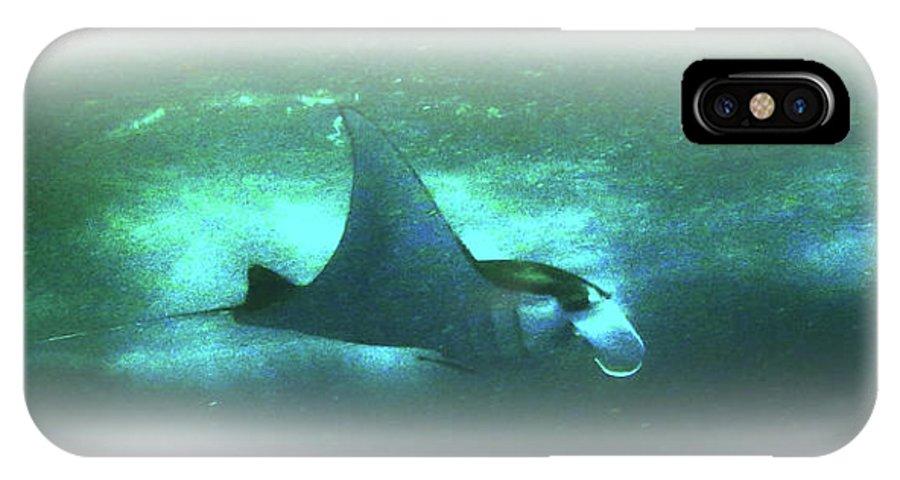 Manta IPhone X Case featuring the photograph Manta Ray Dream by Csilla Ari DAgostino