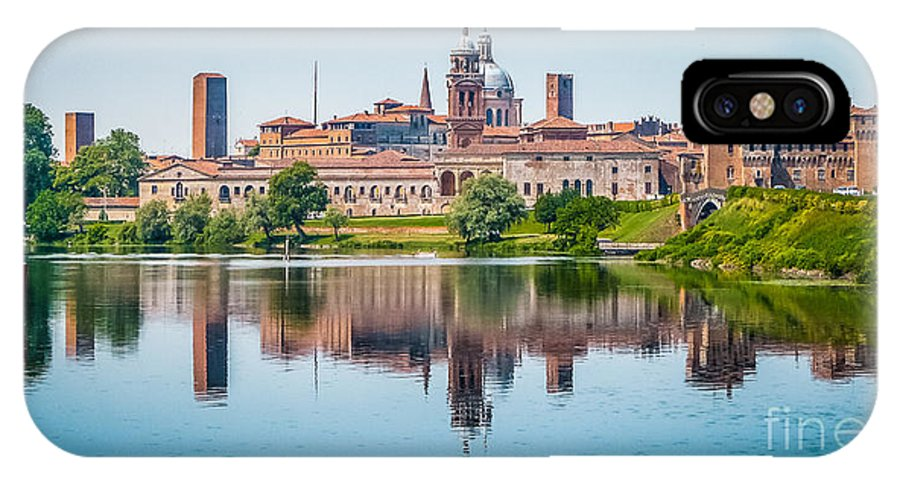 Andreas Hofer IPhone X Case featuring the photograph Mantua Skyline by JR Photography