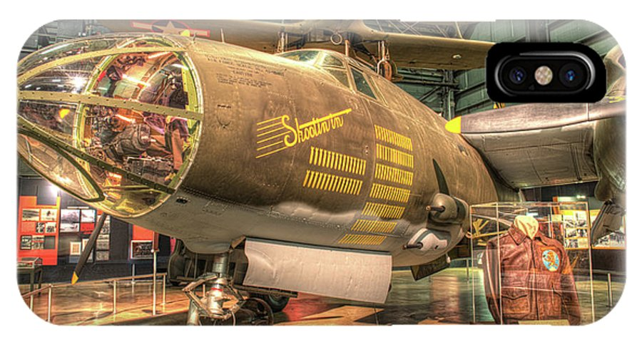 Nose IPhone X Case featuring the photograph Martin B-26g, Marauder, Shootin In by Greg Hager