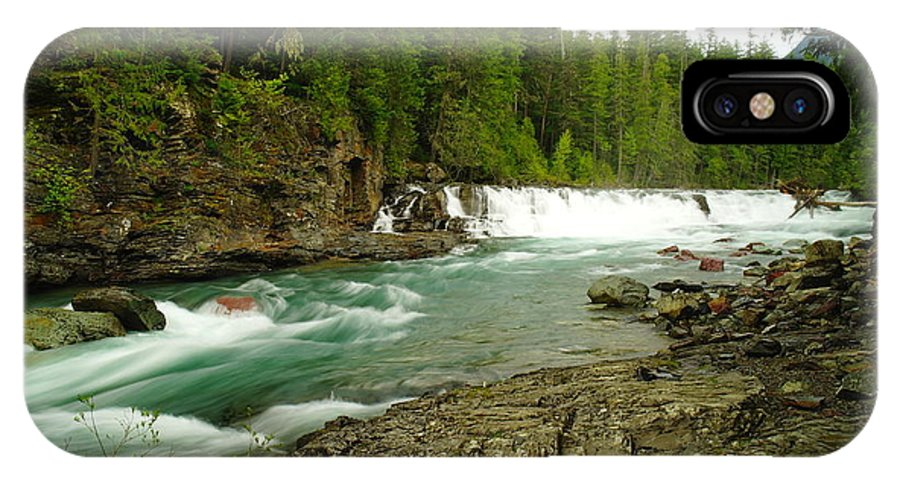 Water IPhone X Case featuring the photograph Mcdonald Creek by Jeff Swan