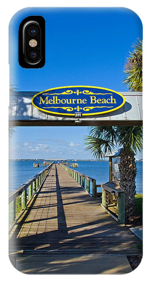 Florida; Melbourne; Beach; Atlantic; Coast; East; Space; Pier; Pineapples; Steamboat; Load; Cargo; I IPhone X Case featuring the photograph Melbourne Beach Florida by Allan Hughes