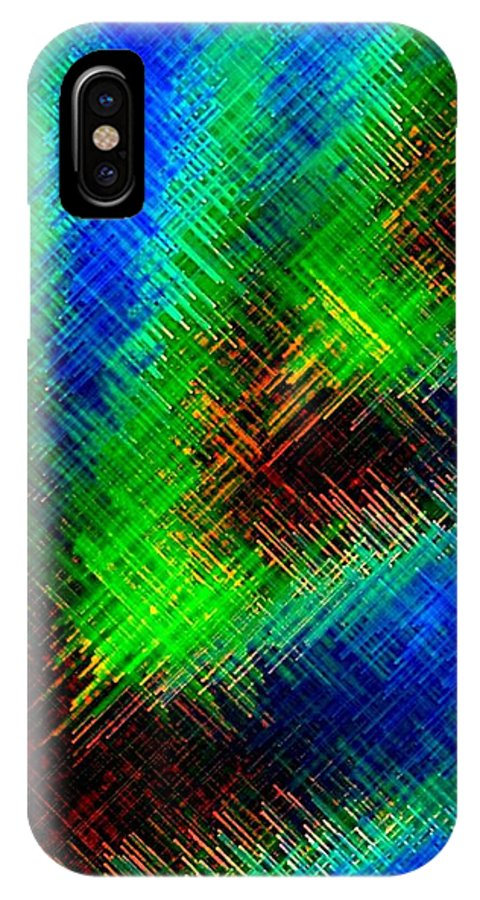 Micro Linear IPhone X Case featuring the digital art Micro Linear 7 by Will Borden