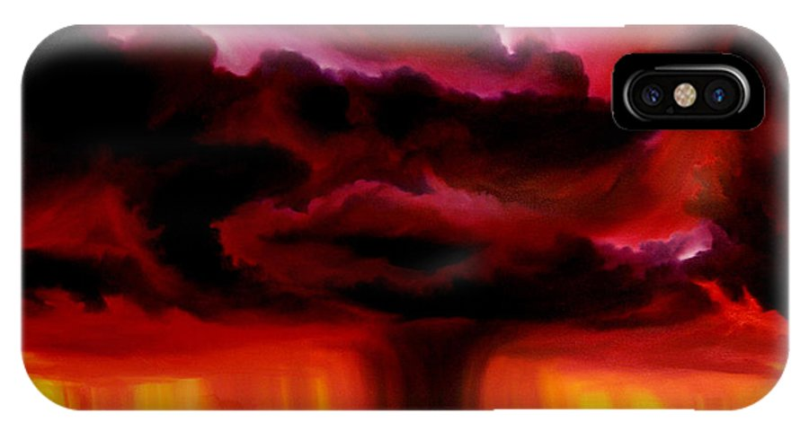 Skyscape IPhone Case featuring the painting Microburst by James Christopher Hill