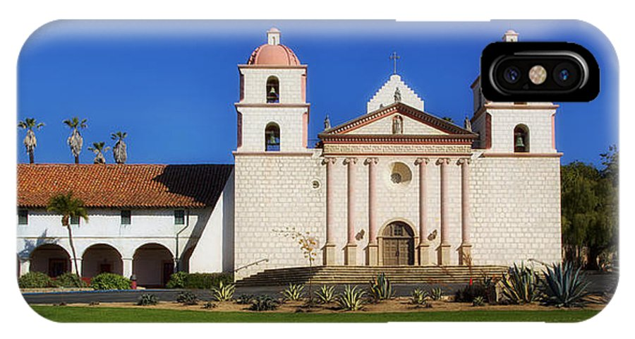 Mission Santa Barbara IPhone X Case featuring the photograph Mission Santa Barbara by Mountain Dreams