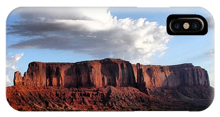 Usa IPhone X Case featuring the photograph Monument Valley by Luisa Azzolini