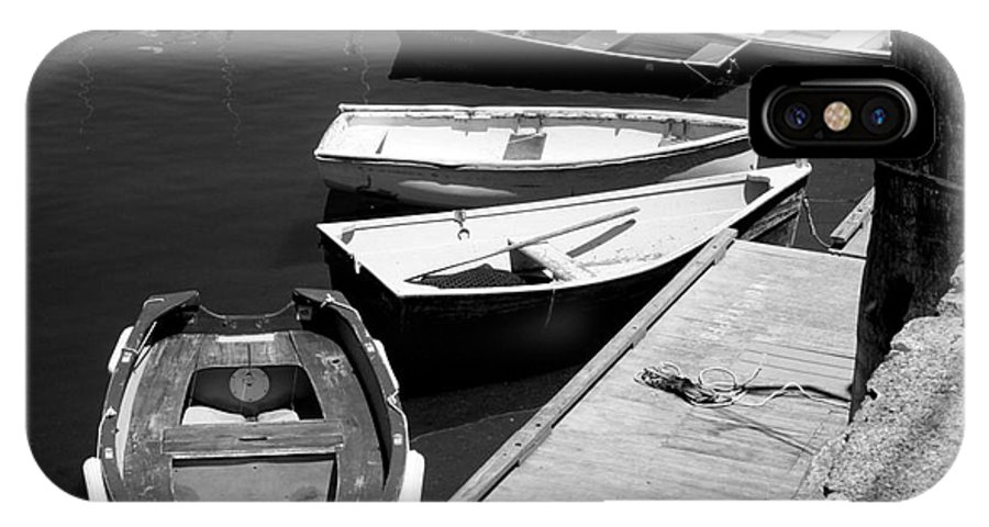 Rockport IPhone X / XS Case featuring the photograph Moored Boats by John Kenealy