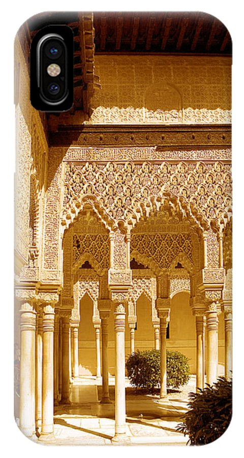 Moorish IPhone X Case featuring the photograph Moorish Architecture In The Nasrid Palaces At The Alhambra Granada by Mal Bray