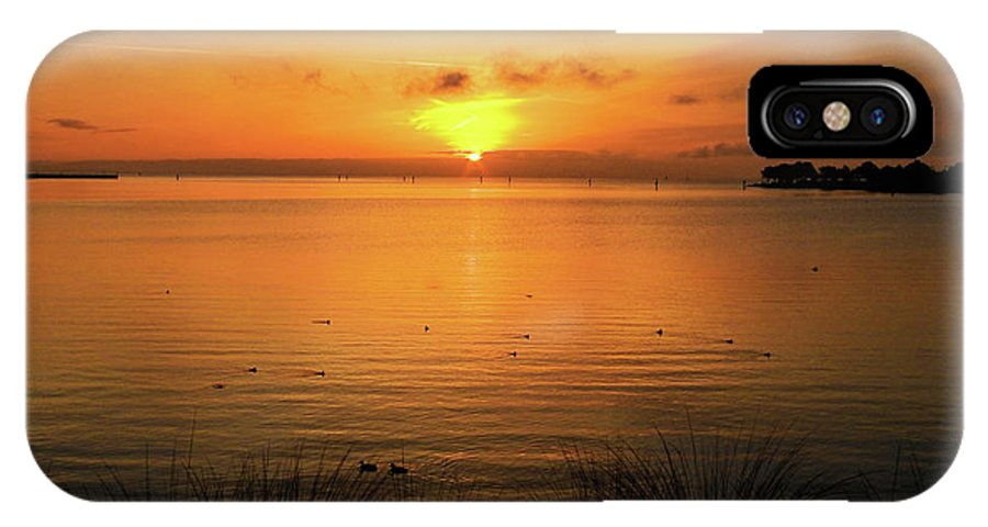 Oysterbay-sunrise IPhone X Case featuring the photograph Morning Calm by Scott Cameron