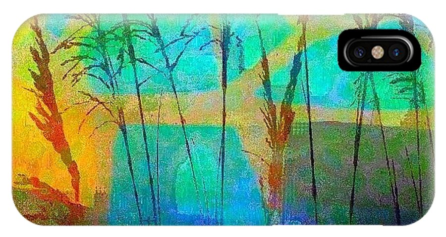 Sunrise IPhone X Case featuring the photograph Mosaic Sea Oats by Mary Lewis