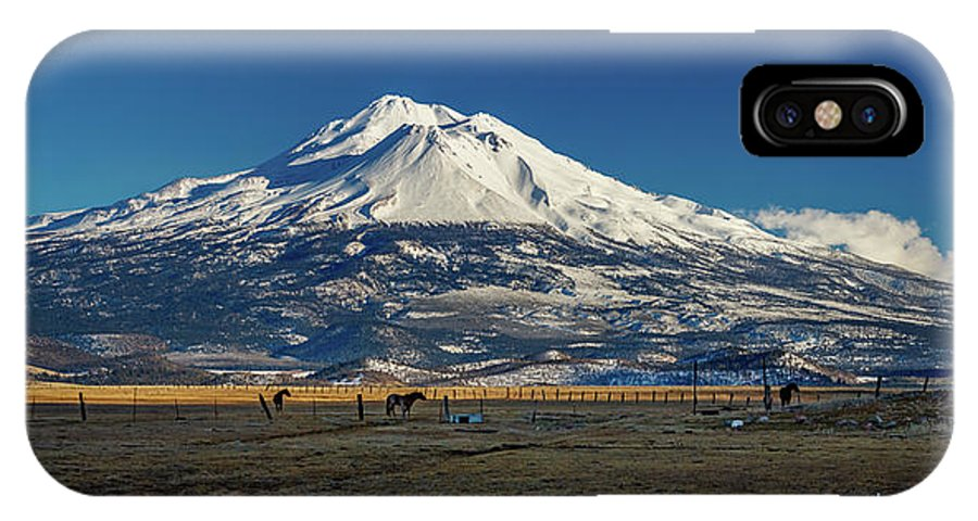 Mount Shasta IPhone X Case featuring the photograph Mount Shasta California by Mike Penney
