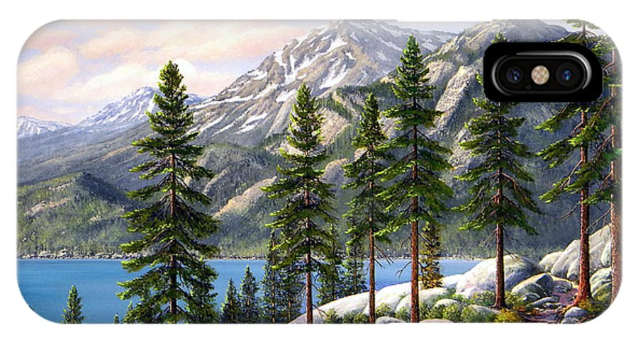 Landscape IPhone Case featuring the painting Mountain Trail by Frank Wilson
