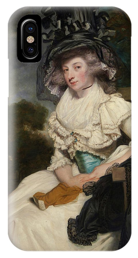 British IPhone X Case featuring the painting Mrs. Lewis Thomas Watson by Joshua Reynolds