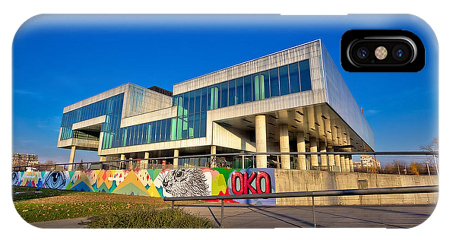 Contemporary IPhone X Case featuring the photograph Museum Of Contemporary Art In Zagreb Exterior by Brch Photography