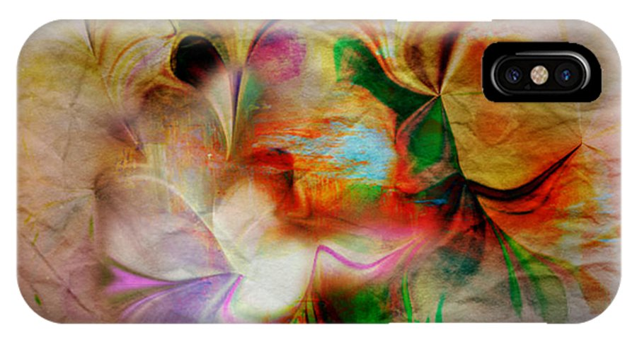 Nature Art IPhone X / XS Case featuring the mixed media Nature by Beth Aragon