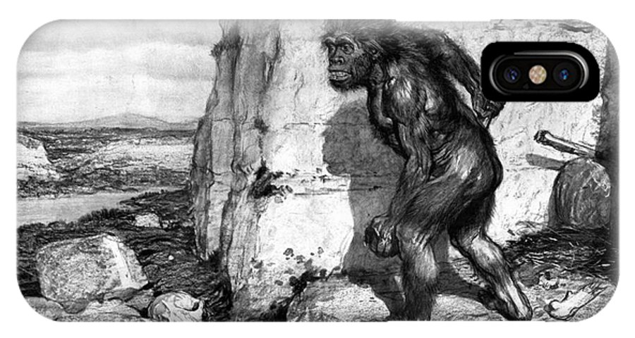 1909 IPhone X Case featuring the photograph Neanderthal Man by Granger
