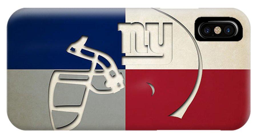 Giants IPhone X Case featuring the photograph New York Giants Helmet by Joe Hamilton