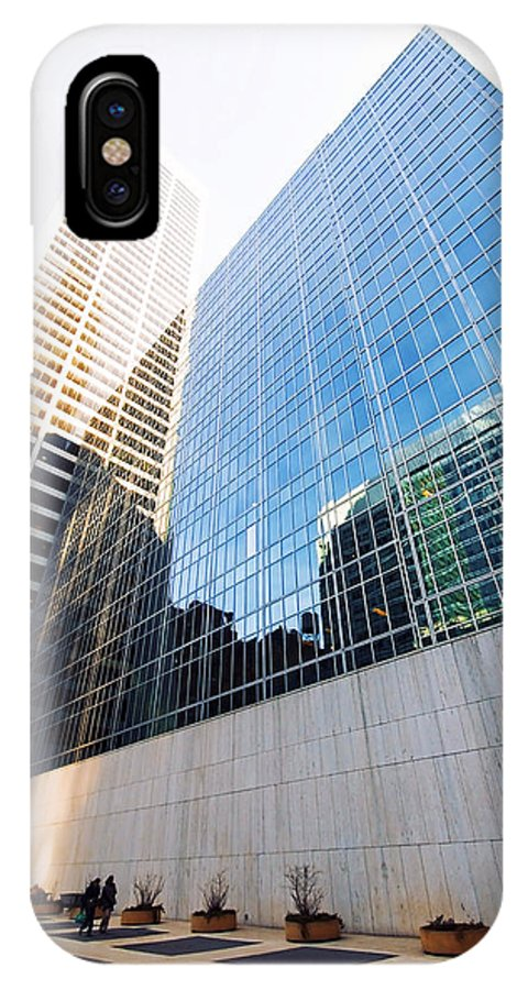 America IPhone X Case featuring the photograph New York Street by Svetlana Sewell