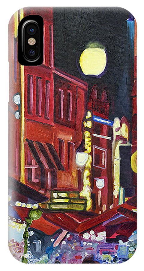 Europe IPhone X Case featuring the painting Night Market by Patricia Arroyo