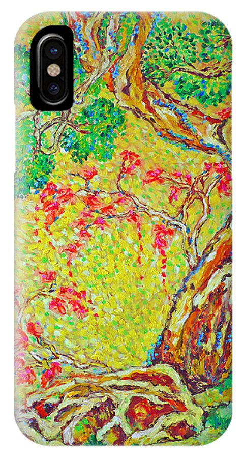 Tree IPhone X Case featuring the painting No title by Ericka Herazo