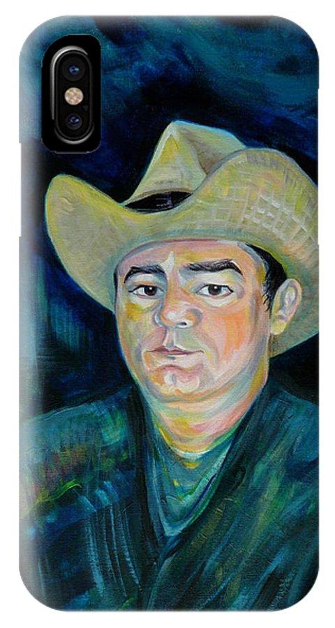 Not Eduardo IPhone X Case featuring the painting Not Eduardo by Anna Duyunova