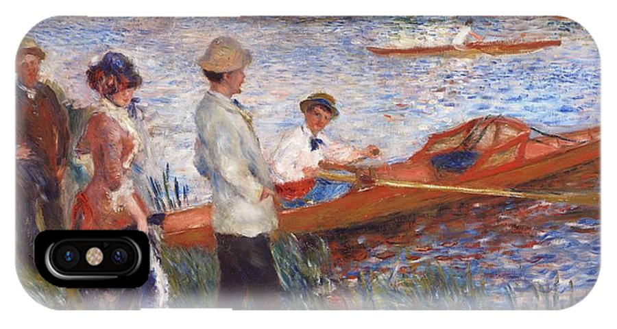 Auguste Renoir IPhone X / XS Case featuring the painting Oarsmen At Chatou by Auguste Renoir