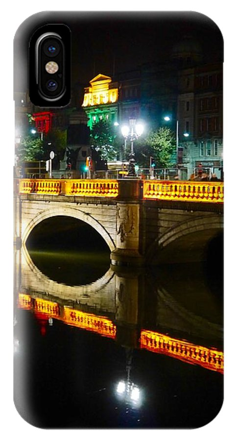 Candles IPhone X Case featuring the photograph O'connell Bridge by James Fitzpatrick