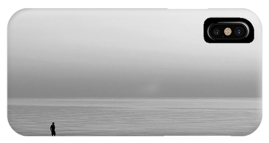 Lake IPhone X Case featuring the photograph One Man by Dana DiPasquale