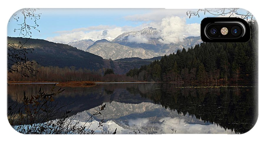 Landscape IPhone X Case featuring the photograph One Mile Lake Reflection Pemberton B.c Canada by Pierre Leclerc Photography