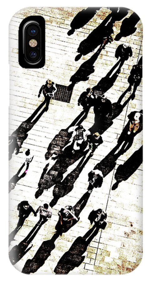 Daigonal IPhone X Case featuring the photograph Passers by Christian Hallweger