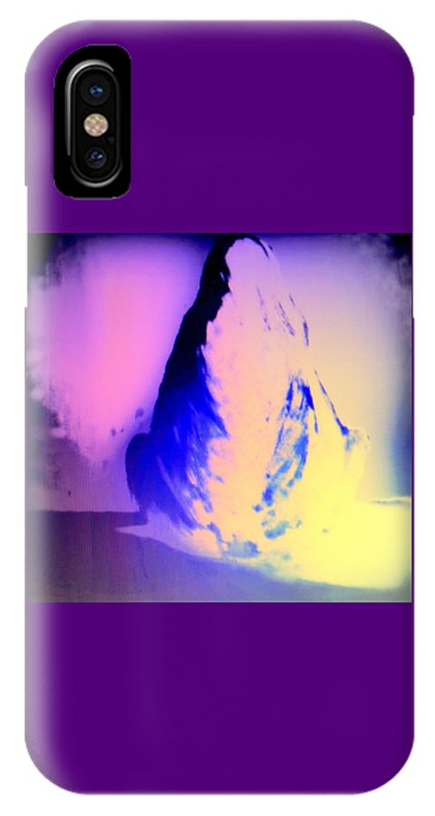 Horse IPhone X Case featuring the painting Trying To Find Peace In My Mind by Hilde Widerberg