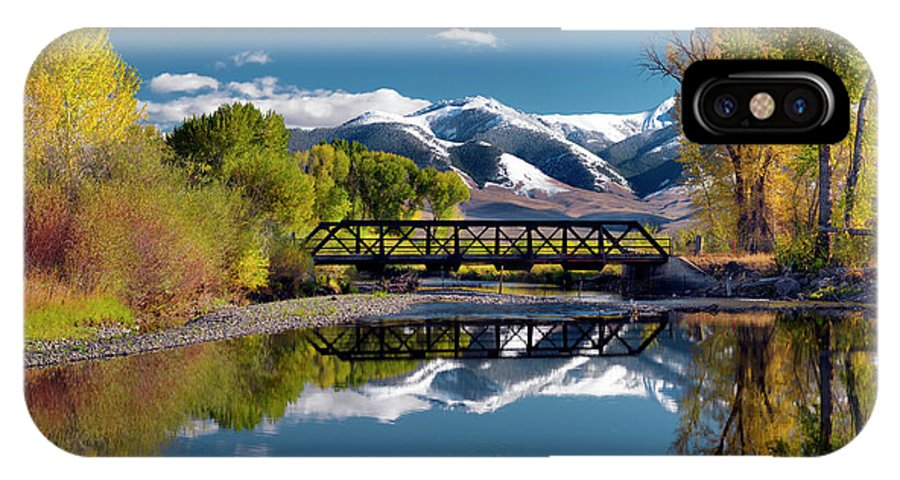 Idaho Scenics IPhone X / XS Case featuring the photograph Perfect Autumn Day by Leland D Howard